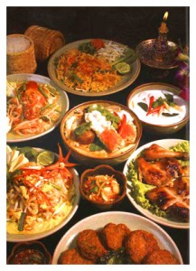 loads of delicious Thai food
